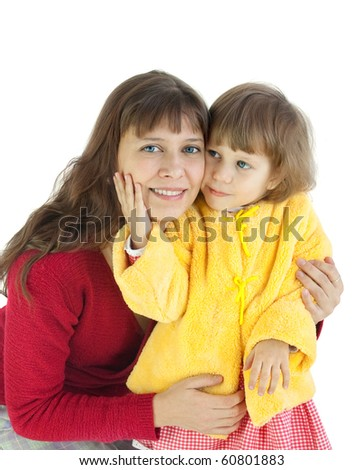 The woman with the child - stock photo