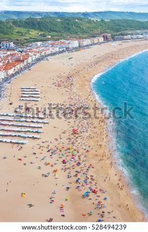 The wonderful beach of Nazare