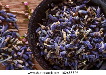 The wonderful smell of dried lavender: for aromatherapy, decoration, wellness, spa. - stock photo