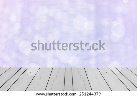 the wood terrace in Blur Background of Air bubble wrap foil welcome to valentine day - stock photo