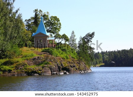 The wooden chapel. Valaam island