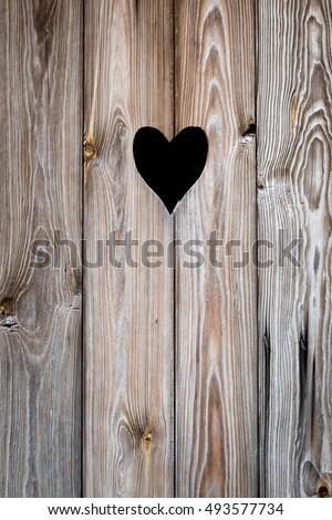 The wooden door with heart. Background & Wooden Door Heart Background Stock Photo (Royalty Free) 493577734 ...
