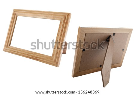 The wooden frame has a simple shape for use