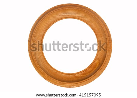 The wooden frame of circular shape. Scope for framing paintings and other decorations.