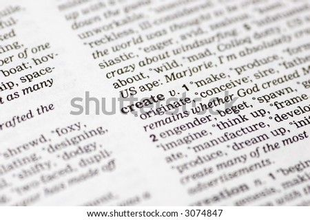 Word Create Written Thesaurus Stock Photo (Edit Now) 3074847 ...