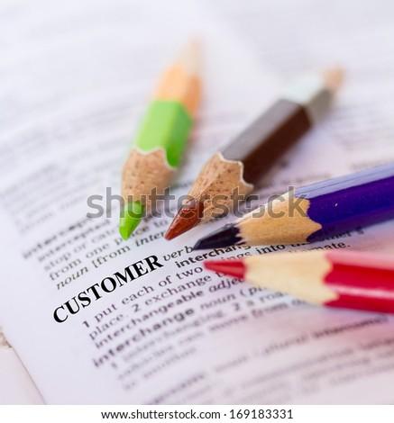 The word CUSTOMER - stock photo
