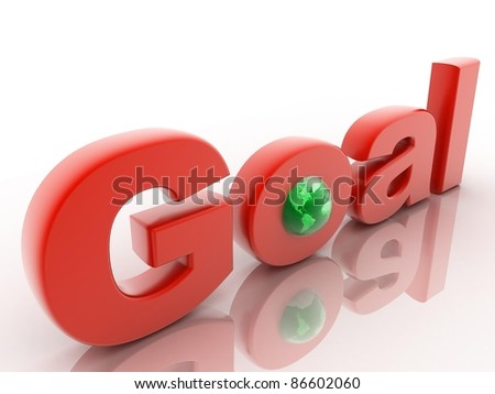 The word Goal with globe - stock photo