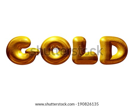 the word Gold in gold - stock photo