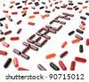 The word Health made from pills, over white background. - stock photo
