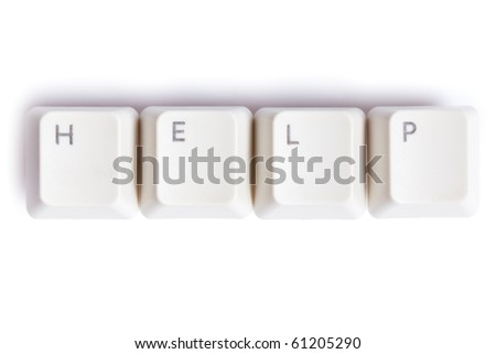 the word help on white background - stock photo
