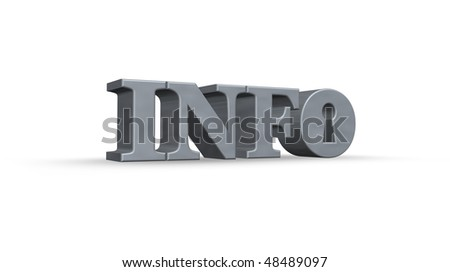 the word info with an keyhole - 3d illustration