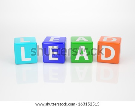 The Word Lead out of multicolored Letter Dices
