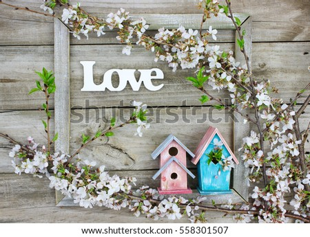 Word Love Window Frame By Colorful Stock Photo (Royalty Free ...
