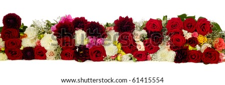 The word love spelled with red roses. - stock photo