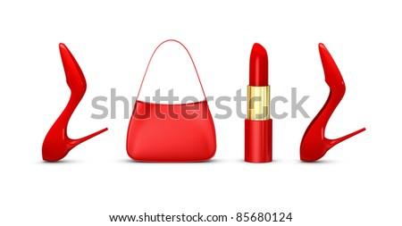 Word 2012 made women shoes bag stock illustration 85680124 the word 2012 made with women shoes a bag and a lipstick 3d render publicscrutiny Images
