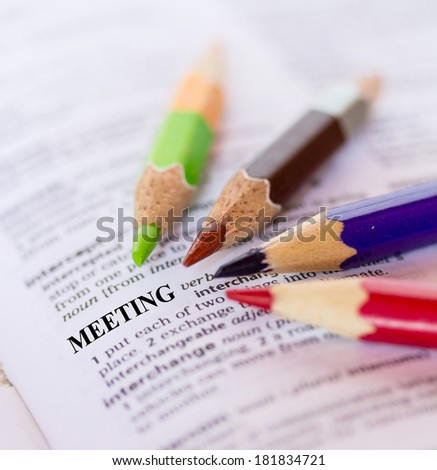 The word MEETING - stock photo