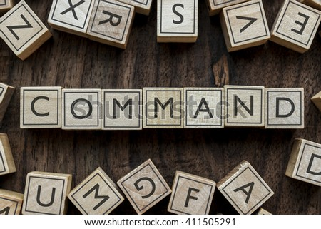the word of COMMAND on building blocks concept