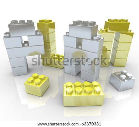 The word Plan made of toy blocks, symbolizing the creation of a new strategy - stock photo