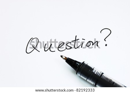 The word Questions concept of making inquries - stock photo