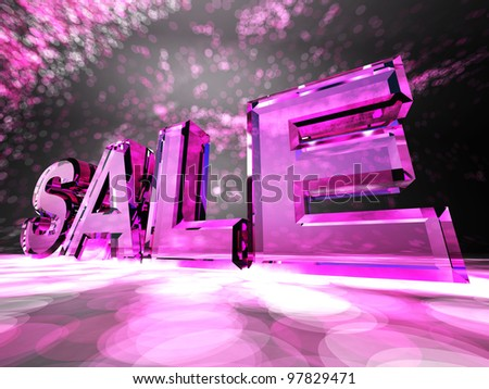 """The word """"Sale"""" on a colorful background - stock photo"""