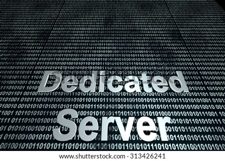 The word server  in front of a binary background symbolizing the digital code of software.