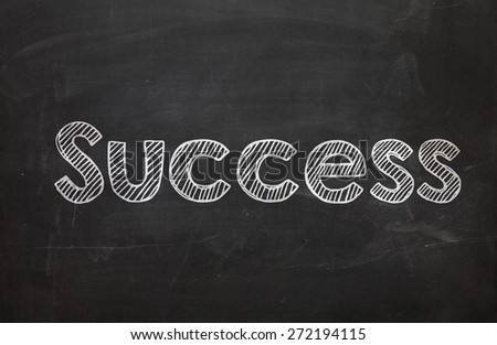 The word Success handwritten with white chalk on a blackboard