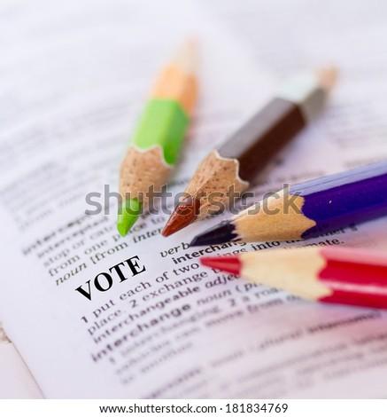 The word VOTE  - stock photo