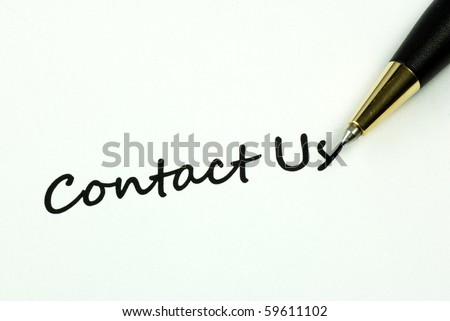 The words Contact Us concepts of help and communication - stock photo