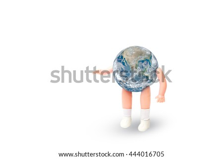 The world as a child.Elements of this image furnished by NASA.