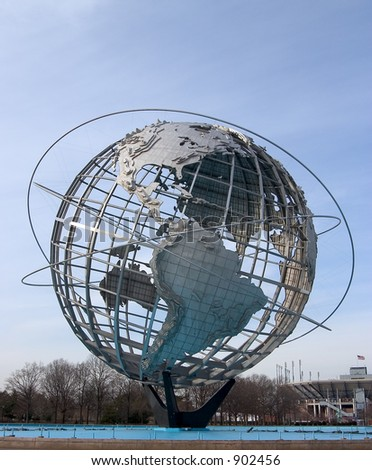 The World at Flushing Meadow Park - stock photo