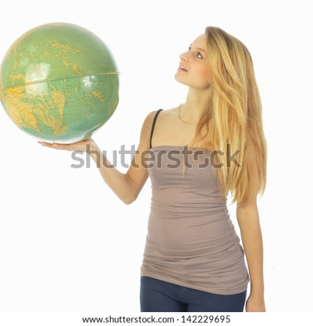 The world at your fingertips 037 - stock photo