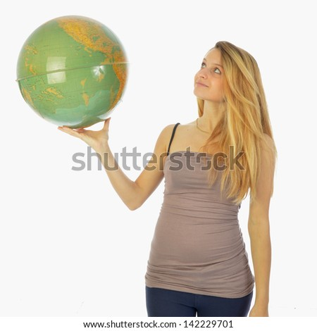 The world at your fingertips 031 - stock photo