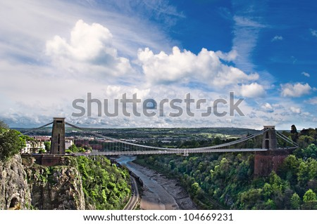 The World Famous Clifton Suspension Bridge. - stock photo