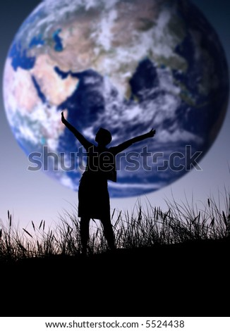 The world is mine - stock photo