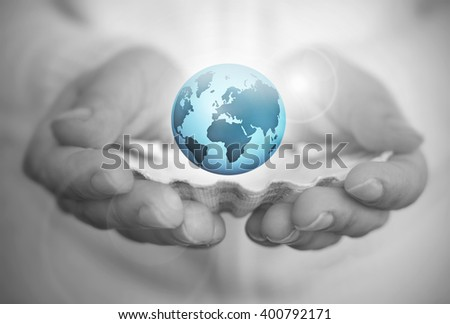 The world is your oyster - stock photo