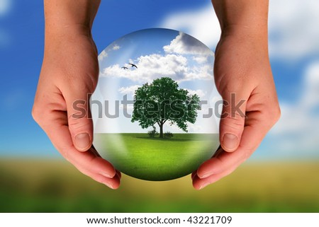 the world should be saved by the creator - stock photo