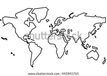 Freehand world map sketch on white stock vector 632177711 the world simple gumiabroncs Gallery