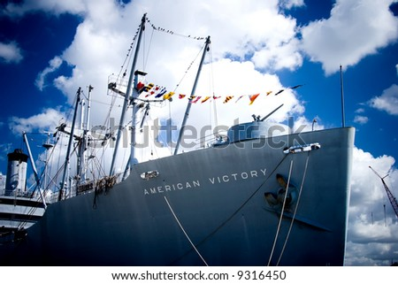 The WWII victory ship American Victory in Tampa, FL. - stock photo