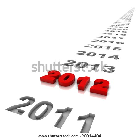 The year 2012 and the years ahead. Part of a series. - stock photo