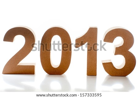 The year 2014 on a white background