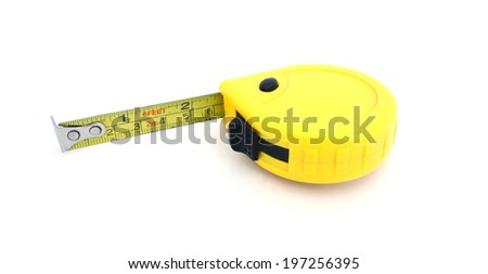 The yellow roulette on a white background - stock photo