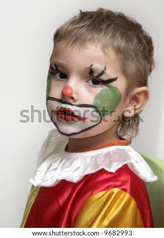 The young clown - stock photo