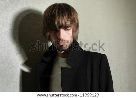 The young man is in a condition of stress - stock photo
