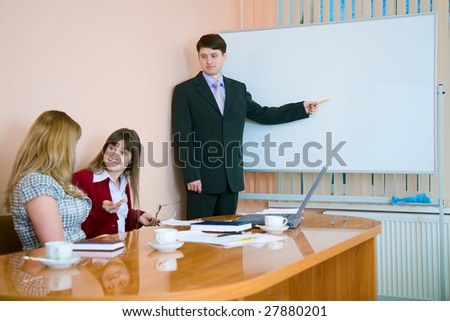 The young man to speak at a meeting