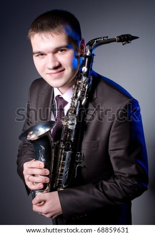 The young saxophonist with the tool.
