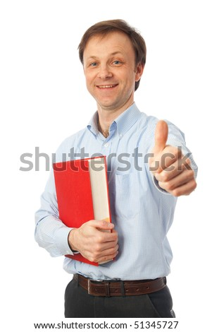 The young student isolated on a white background - stock photo