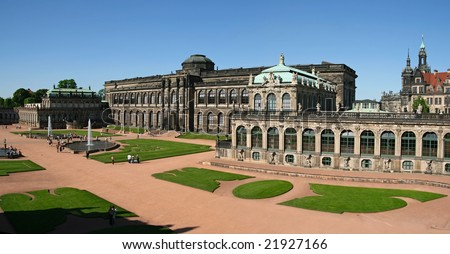The Zwinger Palace in Dresden is a major German landmark