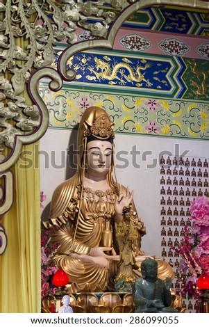 Thean Hou Temple in Kuala Lumpur, Malaysia - stock photo