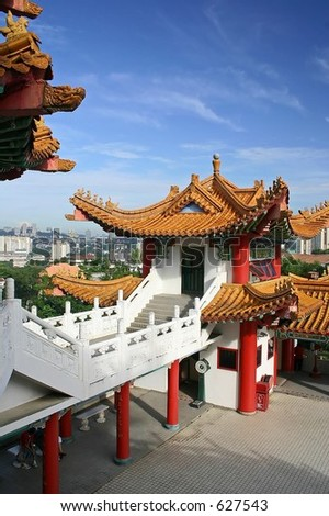 Thean Hou Temple in Kuala Lumpur, Malaysia. - stock photo