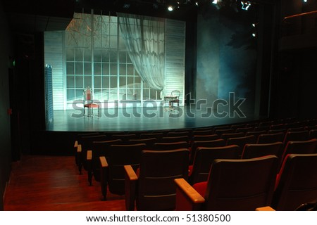 theater and theater scenery - stock photo